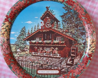 Vintage Souvenir Kitsch Tray - World's Largest Cuckoo Clock