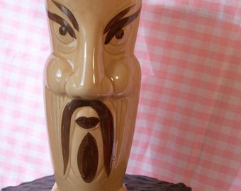 Vintage Ceramic Fu Man Chu Large Glass or Vase