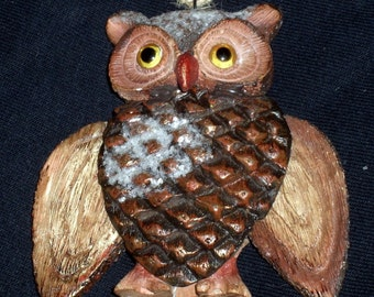 Vintage Owl Ornament - Wings Move