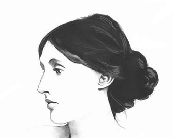 Virginia Woolf Lithographic Print