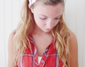 Cotton headband, reversible headscarf