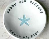 Personalized Wedding Gift: Starfish Bowl, Shower Gift, Anniversary Gift, Ring Bowl, Beach Decor