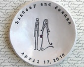 Personalized Wedding Gift: Bride and Groom Ring Bowl, Bridal Shower Gift, Anniversary Gift, Ring Bowl, Keepsake
