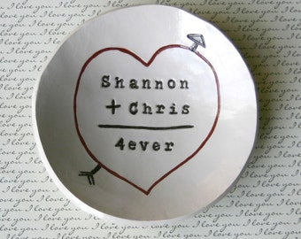 Personalized Anniversary Gift: For Men, Boyfriend, Wedding Gift, Ring Bowl, Valentines Day, You (plus) Me (equals) Forever Bowl