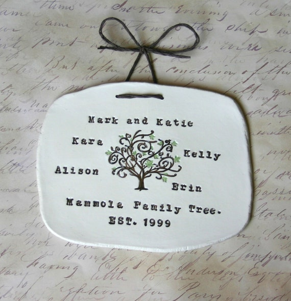 Personalized Family Tree Wall Hanging