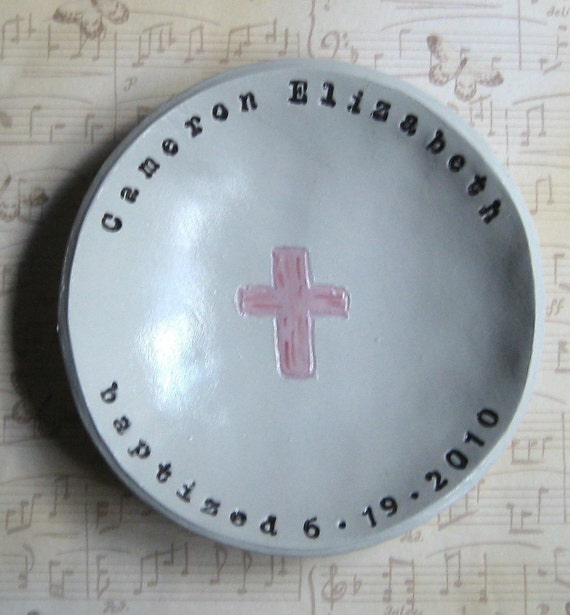 Personalized Baptism Bowl