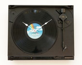 Clock created from a recycled JVC Turntable