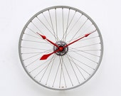 Recycled Bicycle Wheel clock