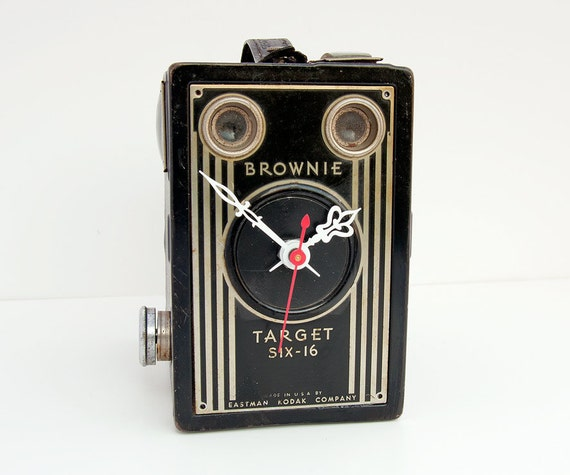 Recycled Kodak Brownie Camera Clock