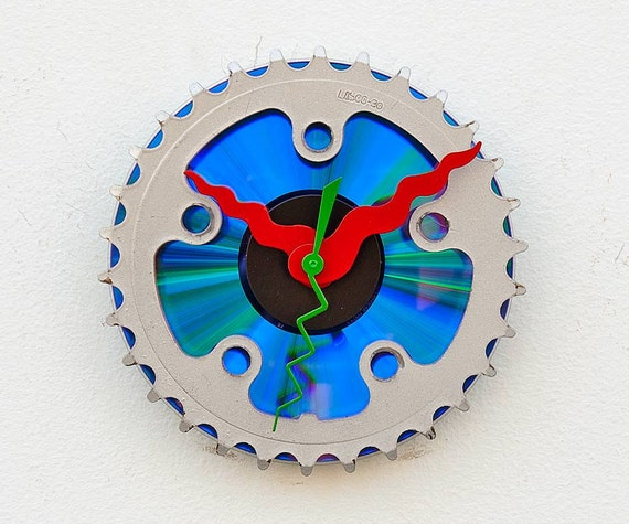 Recycled Bike chain gear clock
