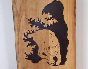 Canadian Lynx Sxroll Saw Art