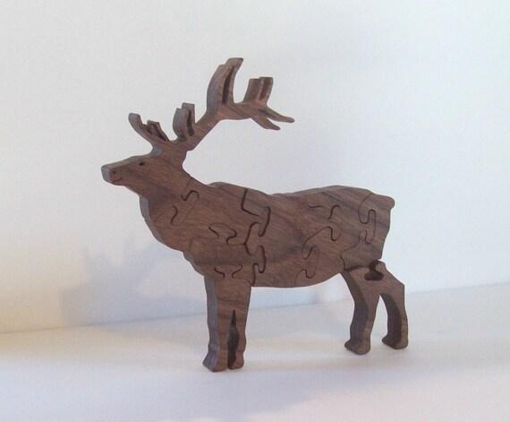 Wooden Elk Puzzle