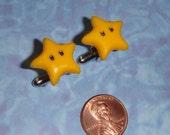 Nintendo Yellow Star Cufflinks