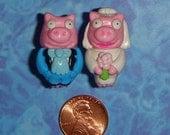 CUFFLINKS Pig Bride and Groom Wedding cuff links