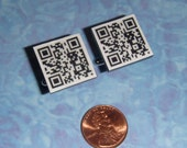CUFFLINKS Custom QR code cuff links - choose your own message to be made as a scannable QR code