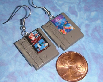 EARRINGS Nintendo Games - CHOOSE any 2 GAMES for your set
