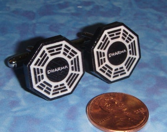 CUFFLINKS DHARMA Initiative Cuff Links - Lost - TV - Department of Heuristics And Research on Material Applications
