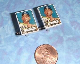 CUFFLINKS Baseball Card Collector Mickey Mantle cuff links