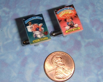 CUFFLINKS Garbage Pail Kids Trading Cards cuff links