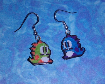 EARRINGS - Bub and Bob from Bubble Bobble