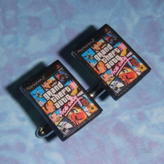 CUFFLINKS Playstation 2 PS2 game box cuff links - Pick any 2 games