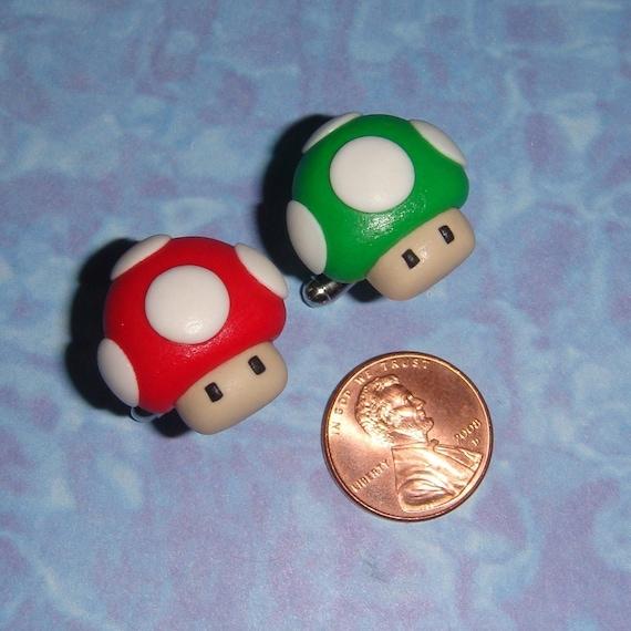 CUFFLINKS NES Super Mario Mushrooms