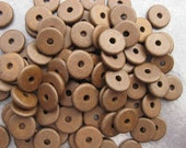 10 Antique Brass  13mm Round Washer - Mykonos Greek Ceramic Beads