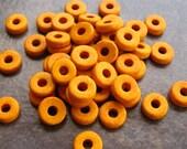25 Sun Yellow  Greek Ceramic Beads 8mm Round Beads