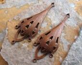 2 Abez Drop Connectors - Chandeliers Trinity Vintage Patina  -  Trinity Brass Co.