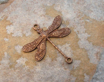 2 Trinity Vintage Patina 2 Ring Small Dragonfly 17x16mm - Trinity Brass Co.