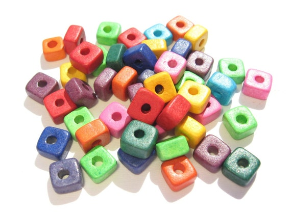 Shop Sale..25 BRIGHT ASSORTMENT Chunky Nuggets Greek Ceramic Beads