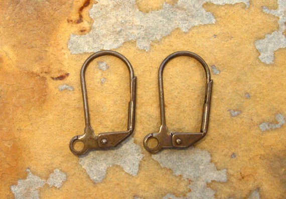 New Sale..4 Trinity Vintage Patina Plain Lever Back Earrings    -  Trinity Brass Co. LOW SHIPPING