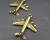 10pcs 28MM Antique Bronze Battleplan Charm Drop Pendant AB486
