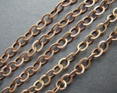 10 feet 8x7mm Antique Copper Flat Compressed Cable Chains LN551