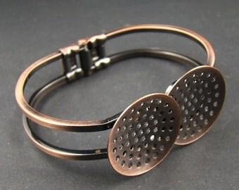 50% OFF SALE - 1pcs 60mm Antique Copper Bracelet With Base Pad RI503