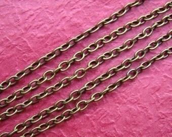 50 Feet Bronze Cross 0 Shape Link Chains LN008