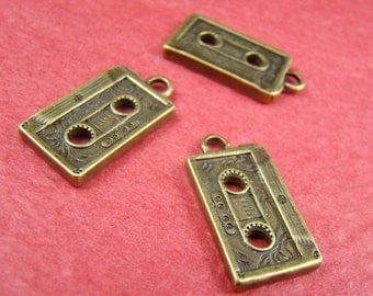 50% OFF SALE - 8pcs 20MM Antique Bronze Tape Charm Drop Pendant Ab477