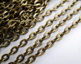 10 Feet Antique Bronze Cross Chains LN004