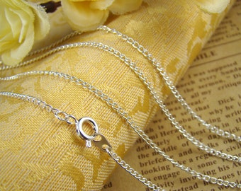 3pcs Silver Plated Finished  Twisted Chains LN901