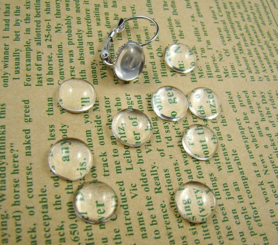 20pcs 10mm Glass Transparent Clear Round Cabochon Cameo Cover Cabs BCG002
