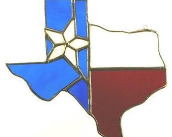 Handmade Stained Glass Texas Sun Catcher