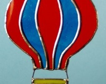 Stained Glass Hot Air Balloon Suncatcher