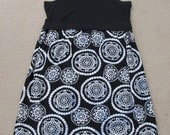 Black and White Batik Reconstructed Tank Dress OOAK PLUS SIZE 2X 3X