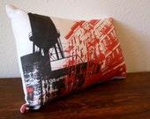 the Dark City Urban Throw Pillow - Style no4 - Linen Cotton Blend - 10x15