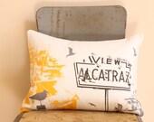 San Francisco Pillow - Urban Throw Style no24 - View Alcatraz