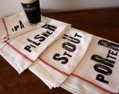 beer lover gift - Beer Lovers Towel Set - Set of 4 - Tea Towels - Home Brewing - Gifts for Men - Fathers Day