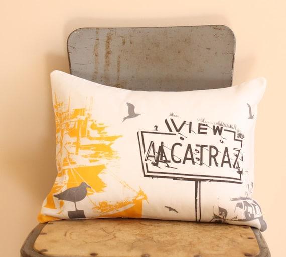 San Francisco Pillow Urban Throw Style no24 View Alcatraz