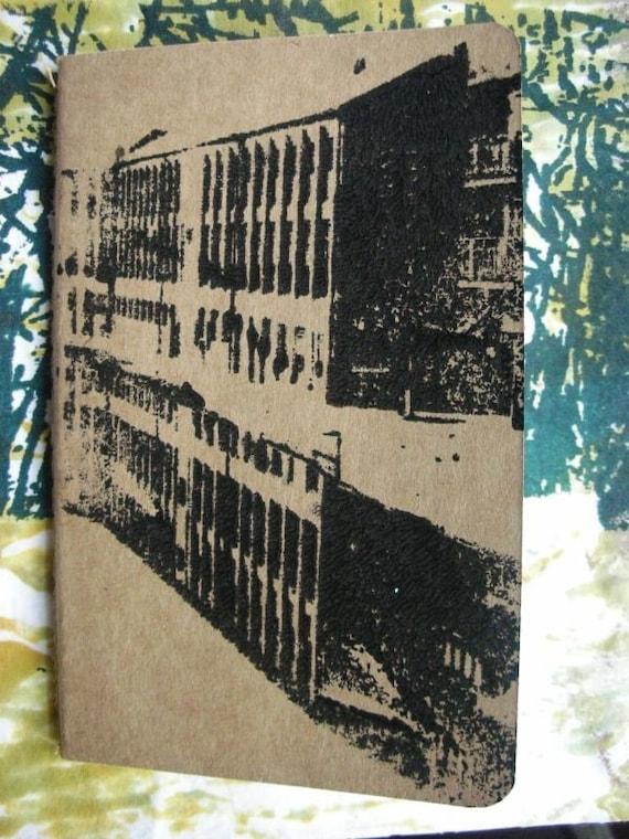 Canalside Journal - pocket sized Moleskine notebook - Gocco printed - lined