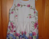 Vintage Tablecloth Dress Size 3 FREE SHIPPING in USA