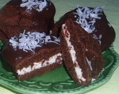 8 Chocolate Cookie Sandwiches Filled w/ Coconut Butter Cream